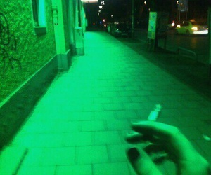 green, grunge, and cigarette image