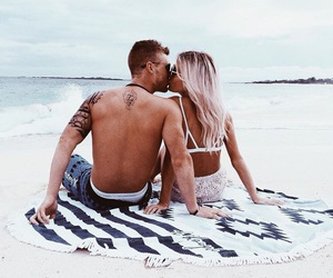 beach, couples, and tumblr image
