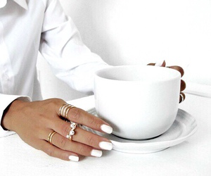 nails, white, and coffee image