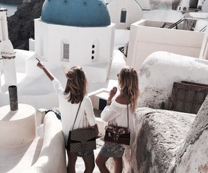 friendship, girls, and Greece image