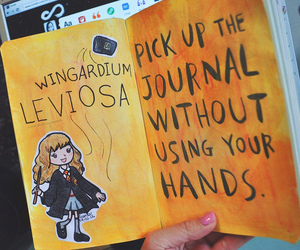 wreck this journal, book, and harry potter image
