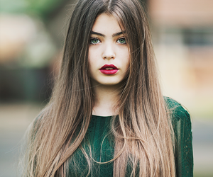 beauty, hair, and brown image