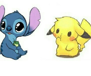 stitch, pikachu, and kawaii image
