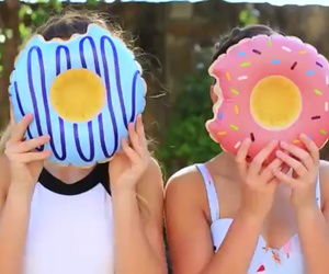 donuts, pool, and summer image