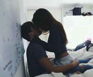 fashion, kissing, and couple goals image