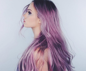 hair, girl, and color image