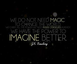 harry potter, magic, and jk rowling image