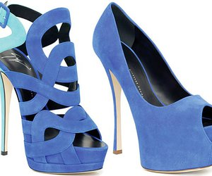 girl, shoes, and blue image