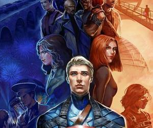 captain america, Marvel, and black widow image