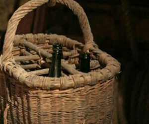 basket and rustic image