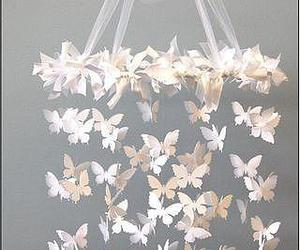 butterfly, diy, and white image
