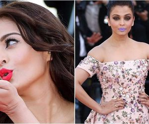 beauty, bollywood, and lipcolor image