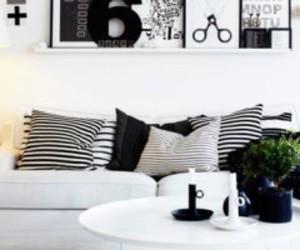 black and white, decor, and design image