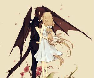 anime, demon, and angel image