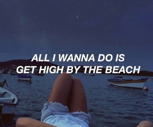 Lyrics, lana del rey, and high by the beach image