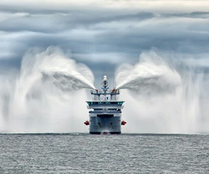 ship, water, and amazing image