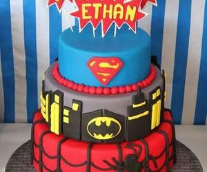cake, pastel, and batman image
