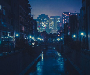 blue, japan, and night image