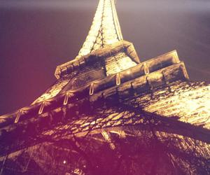 eiffel tower, france, and light image