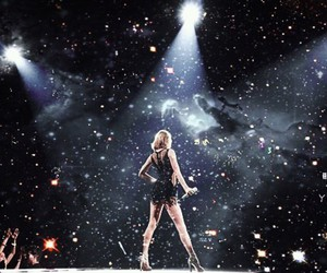 concert, galaxy, and lights image