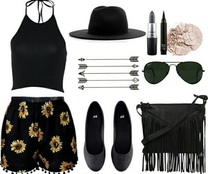 black, fringe, and hat image