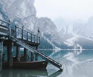 escape, lake, and snow image