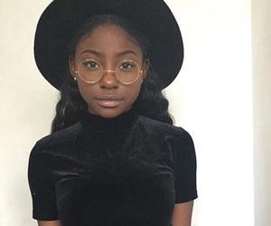 girl, glasses, and melanin image