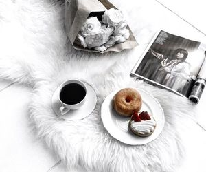coffee, donuts, and white image