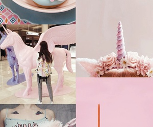 pink, unicorn, and wallpaper image