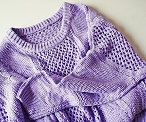 knit, lilac, and sweater image