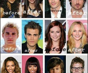 tvd, elena, and stefan image