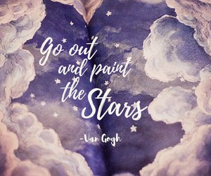 paint, quote, and stars image