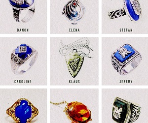 tvd, the vampire diaries, and rings image