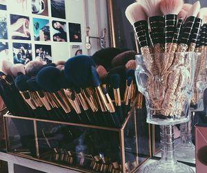 makeup, Brushes, and fashion image