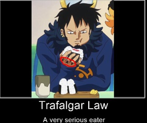 eat, one piece, and 😑 image