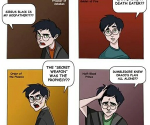 harry potter, funny, and comic image