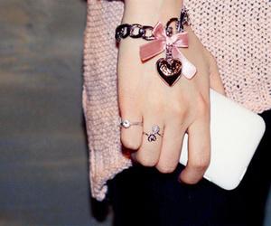 bracelet, hand, and girl image