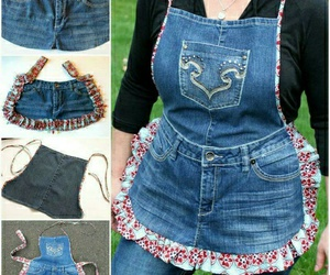 apron, diy, and jeans image