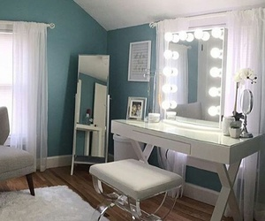 room, beautiful, and blue image