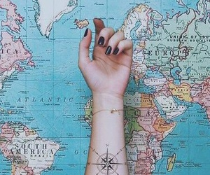 nails, tattoo, and water image
