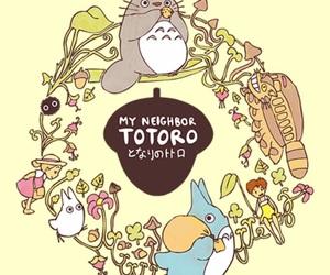 studio ghibli and totoro image