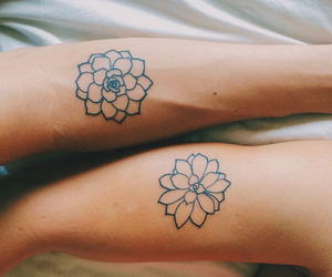 flower, tattoo, and friends image