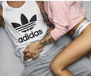 adidas, black+and+white+, and love+relationship+ image