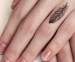 tattoo, feather, and tatoo image