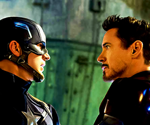 captain america, iron man, and Marvel image