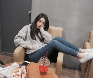 asian girl, cute girl, and korean people image