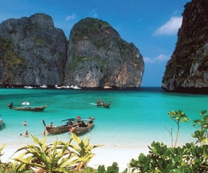 beach, islands, and thailand image