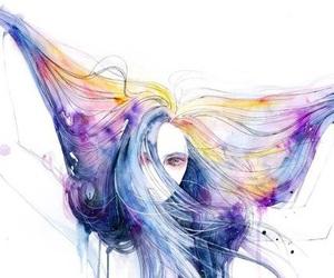 art, girl, and hair image