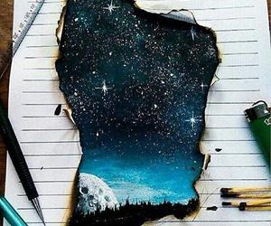 art, drawing, and moon image