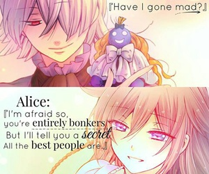 alice, mad hatter, and anime image